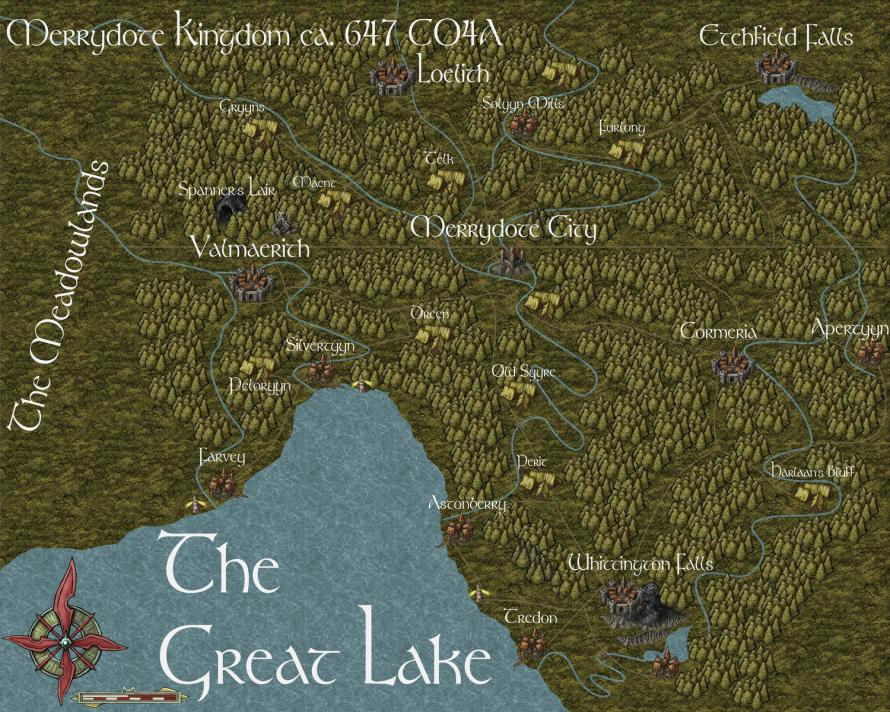Latest Map of Merrydote Kingdom